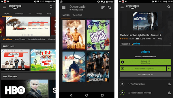 Download Movies on Android using Amazon Prime Video