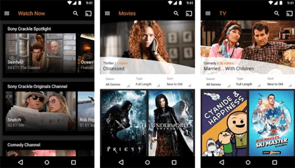 Download Movies on Android using Sony Crackle