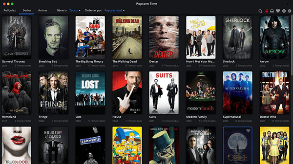 Download Movies on Mac using Popcorn Time