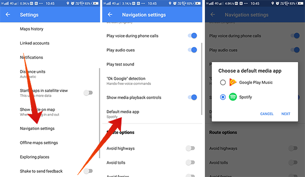 How to Change the Default Music Player App in Google Maps