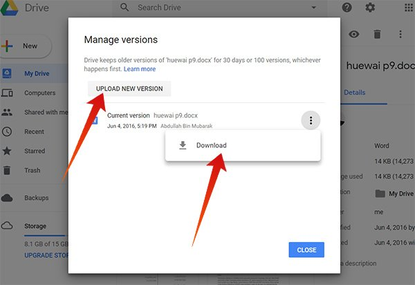 How to Restore Previous Versions of A File in Google Drive