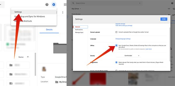 How to Work Offline on Google Drive