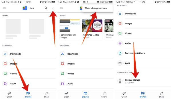 How to browse files using Files by Google