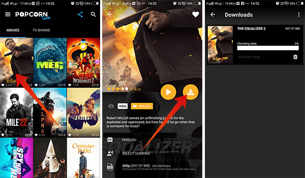 How to download movies on Android using Popcorn TV