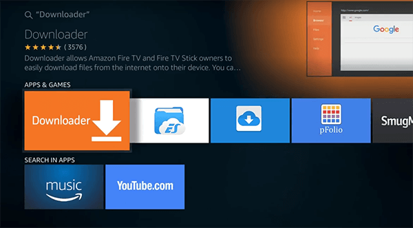 Install Downloader App in Amazon Fire TV Stick