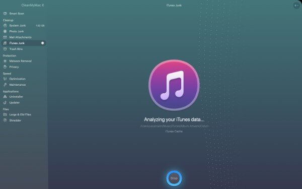 iTunes Junk Cleaner in CleanMyMac X