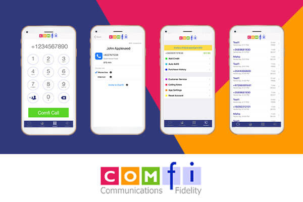 Comfi App smartphone interface