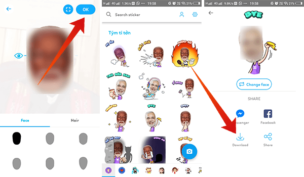 Create Face Sticker using Zamoji
