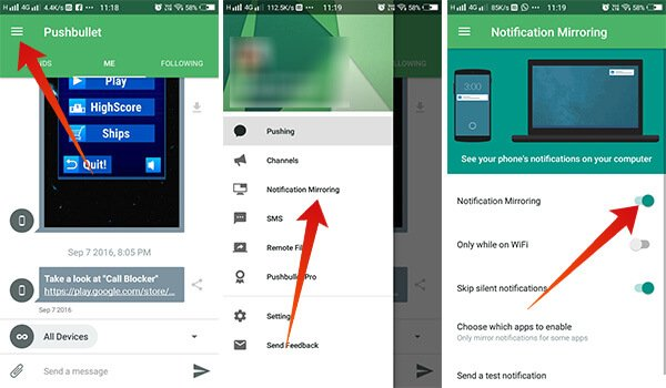 Pushbullet on Android to Sync Android Notification