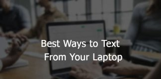 Best Solutions to Text from PC