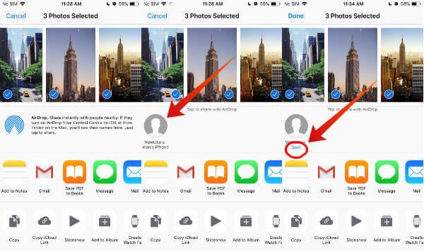 iphone airdrop send files