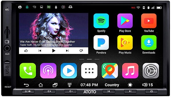 ATOTO A6 Pro A6Y2721PRB 2DIN Android Car Navigation Stereo - Dual Bluetooth aptX - Fast Phone Charge-Ultra Preamplifier - in Dash Entertainment