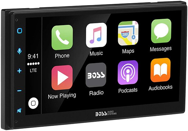 Boss Audio BVCP9675A Double Din, Apple CarPlay, Android Auto, Bluetooth, Capacitive Touchscreen Mech-Less