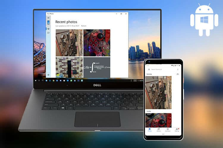 Sync Android Phone With Windows10