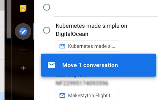 how to drag mail into google tasks