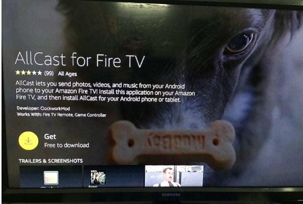 Allcast fire tv receiver app