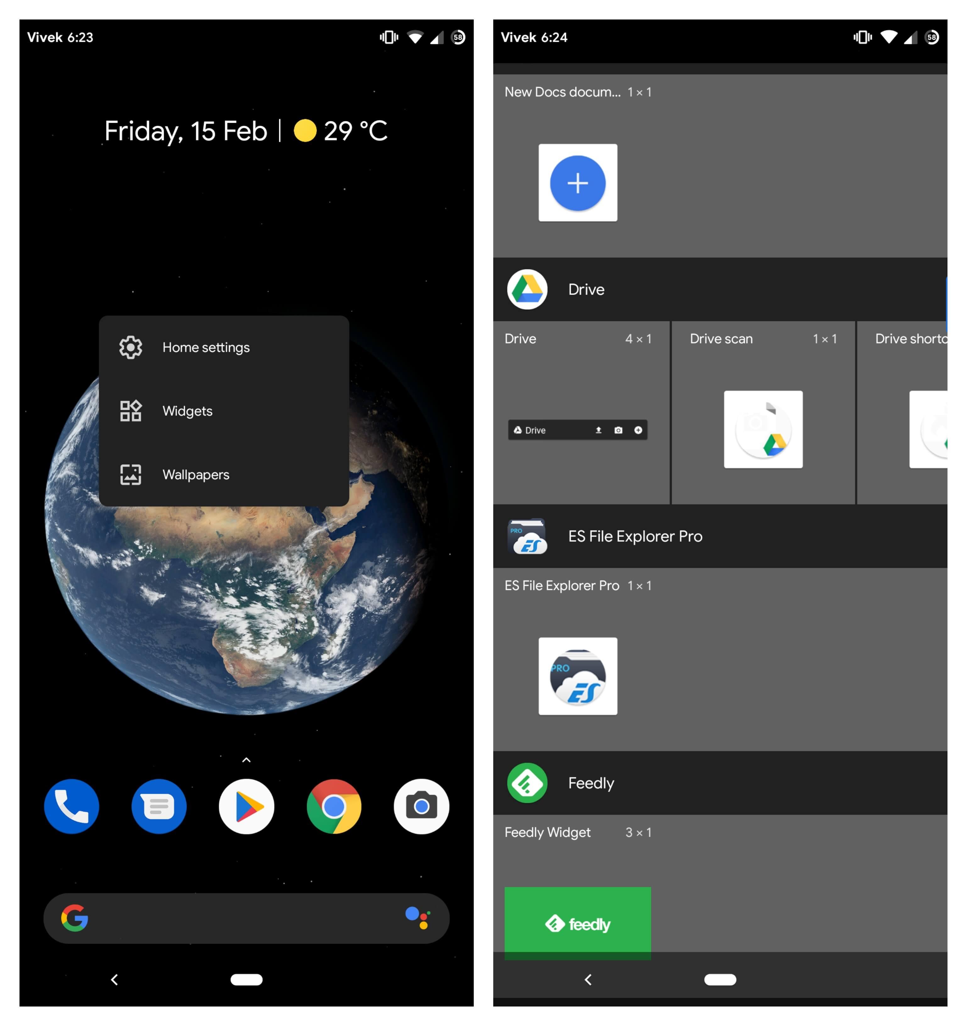 Add Google Drive widget