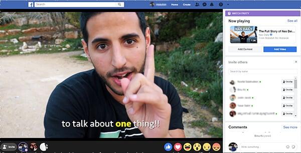 Facebook Watch Party Screenshot