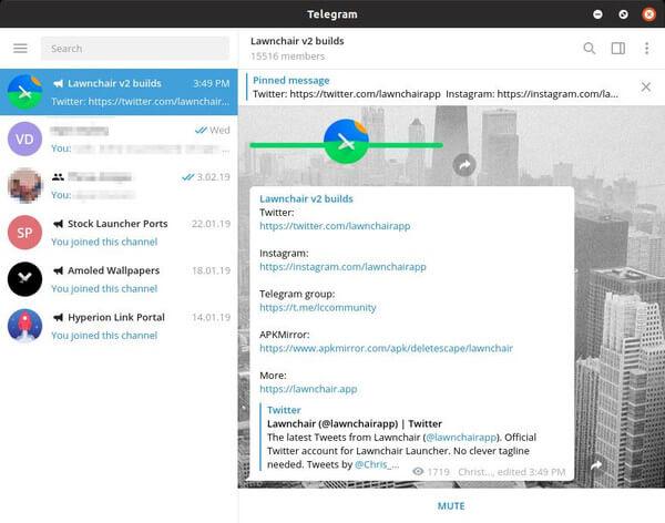 Telegram Desktop on Linux