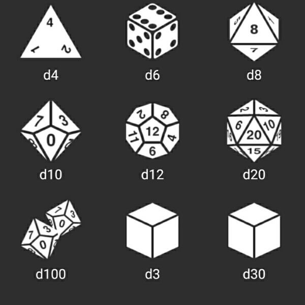 RPG Simple Dice app