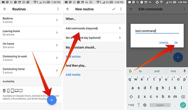 Adding new custom Routines on Google Home