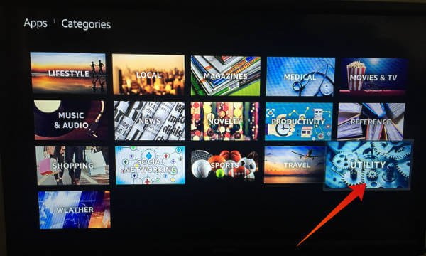Amazon Fire TV App Screen