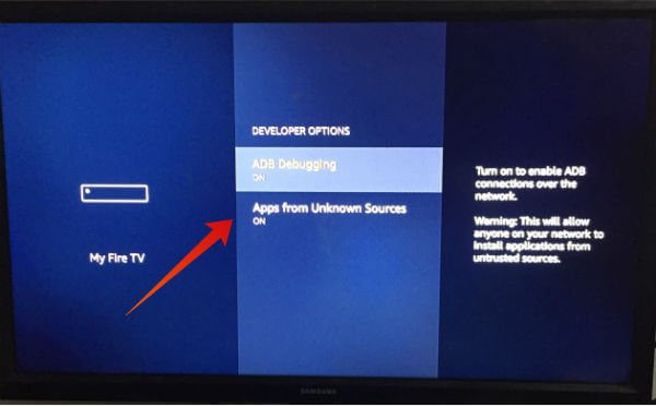 Amazon Fire TV Installation Settings