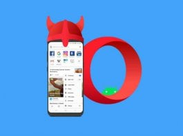 Enable Built-in Free VPN Opera Android