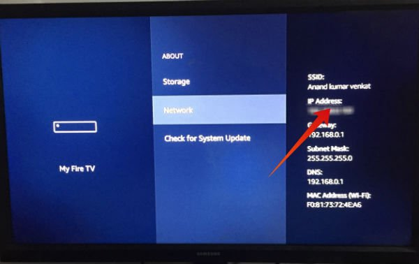 Fire TV Stick IP Address