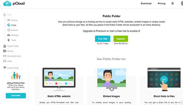 Public Folder in pCloud