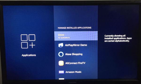 Uninstall Apps Fire TV Stick From Settings