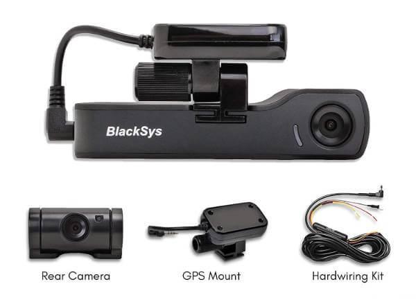 5. BlackSys CH-200 Dual Dashcam