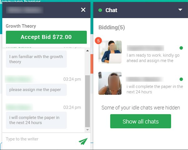 Chat with Writers in Edusson