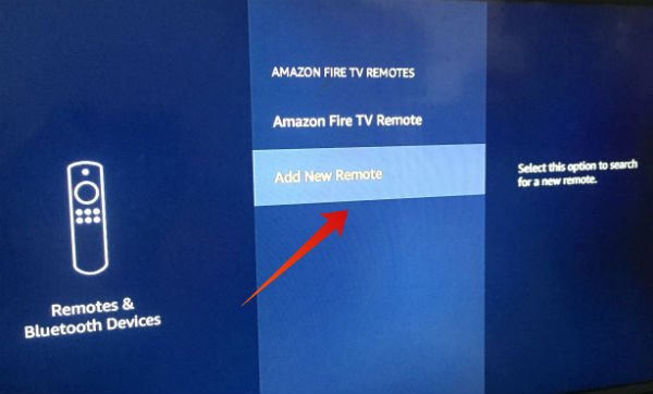 Firestick add new remote