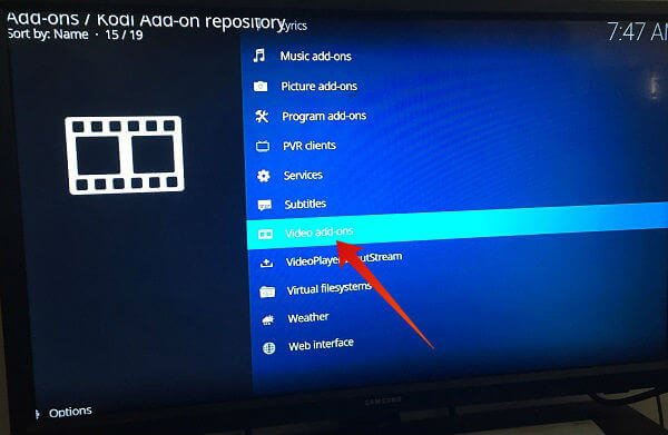 Firestick kodi addons categories