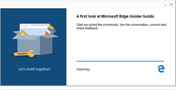 Install Microsoft Edge with Chromium Engine Dev Build