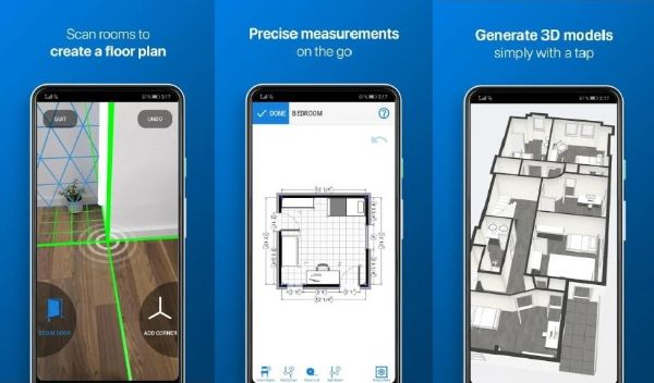 Create 3D Floor Plans using Magicplan Android application