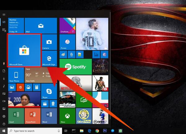 launch Microsoft Store