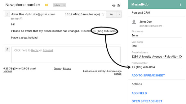 MyriadHub on Gmail