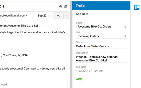 Trello on Gmail