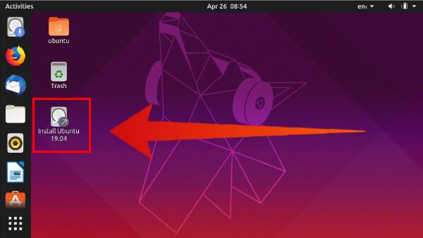 Launch Ubuntu installer again