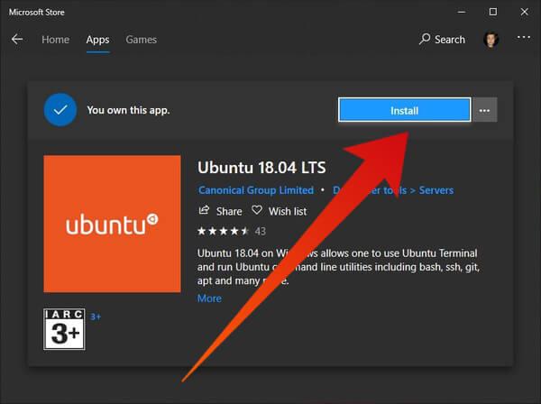 Ubuntu on Windows Store