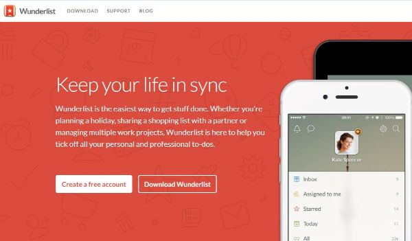 Keep yourself up-to-date with Wunderlist app
