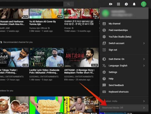 Youtube Restricted Mode PC