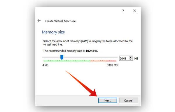 Allocate RAM to virtual machine