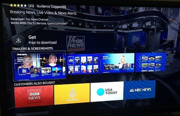 firestick news channels