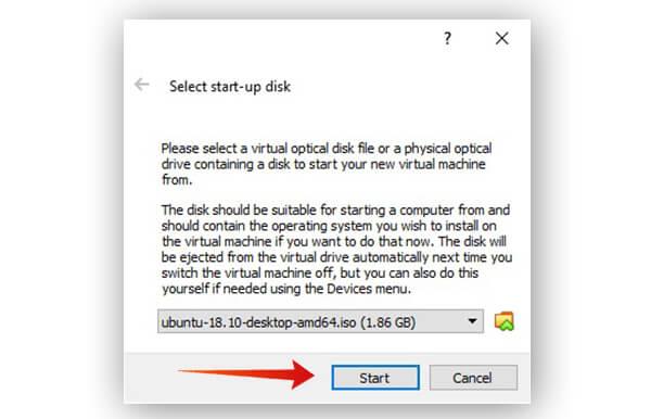 Select OS image