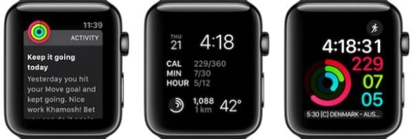 Activity app for Apple Watch