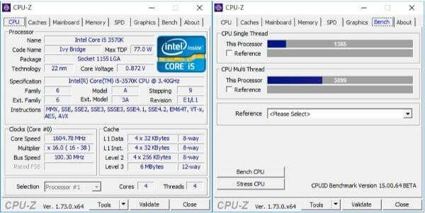 CPU Z Benchmark