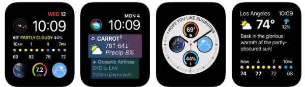 Carrot weather app for Apple Watch
